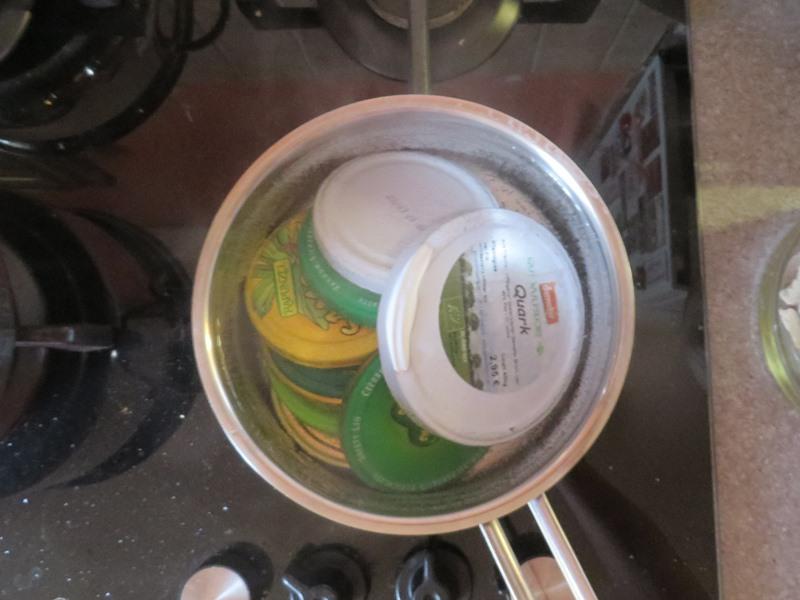 deckel auskochen sterilisieren