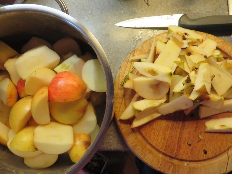 äpfel kleinschneiden
